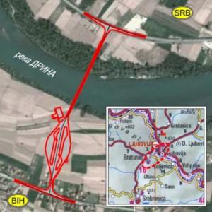 Bridge Over Drina River Border Crossing Ljubovija K Bridge Design